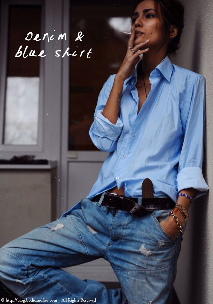 denim + blue shirt | Outfit perfection