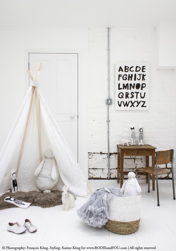 Beautiful white teepee from www.bodieandfou.com