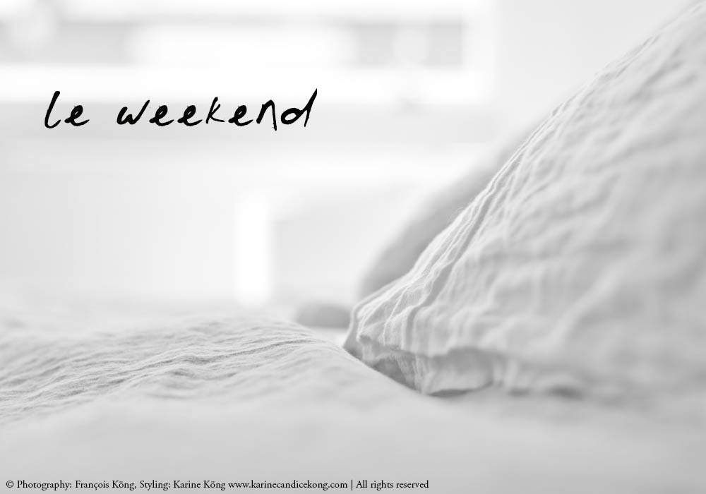 LE WEEKEND | Cloud grey stonewashed linen. Photography: Francois Kong, Styling: Karine Kong www.karinecandicekong.com