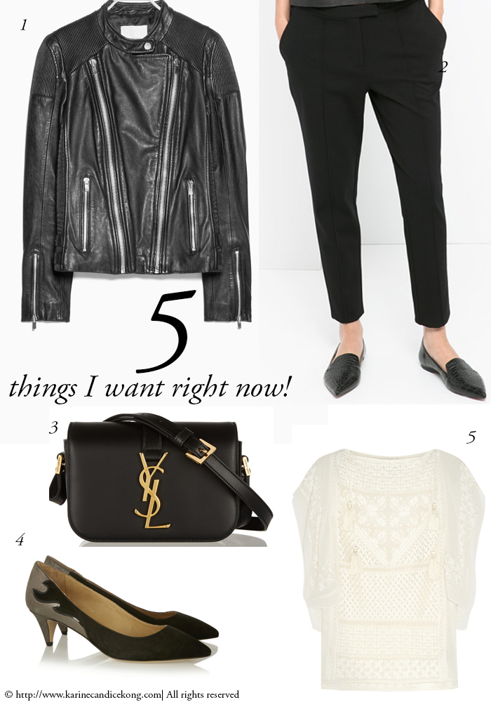 5 THINGS I WANT RIGHT NOW! 30/01/2015