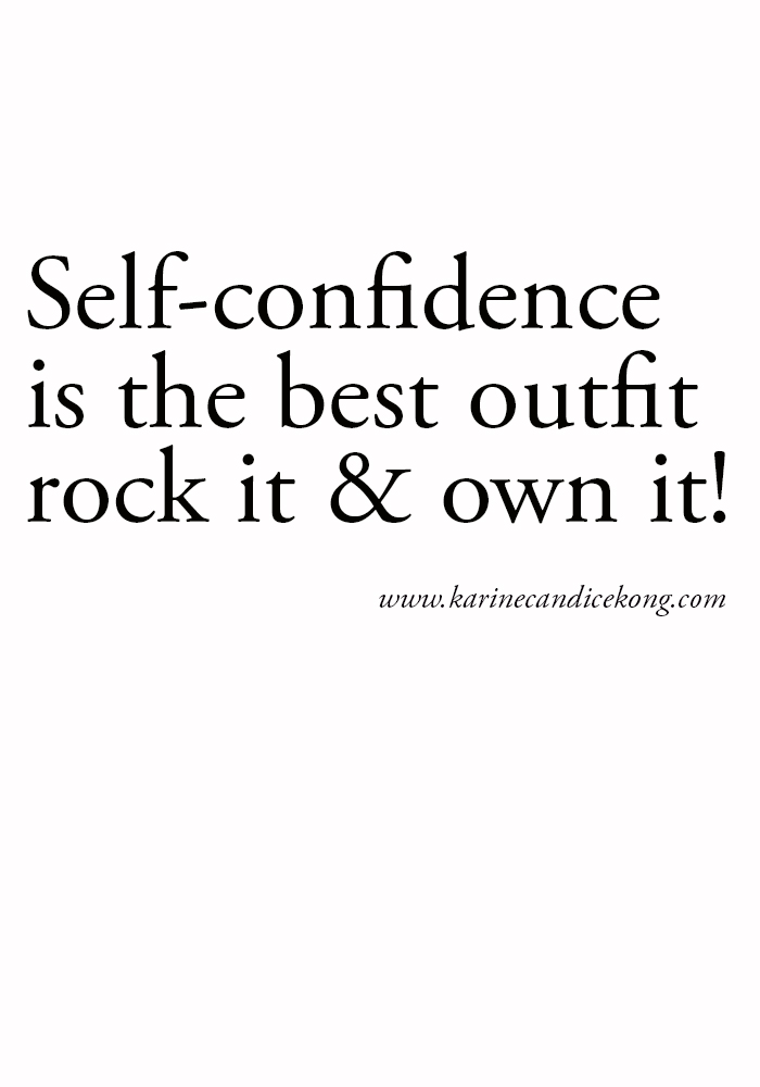 {WISE WORDS} SELF-CONFIDENCE