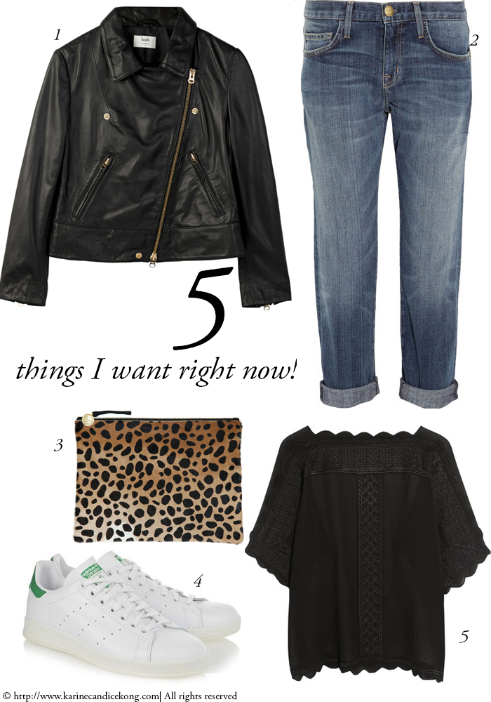 5 Things I want right now! 11/09/2015. Read on www.karinecandicekong.com