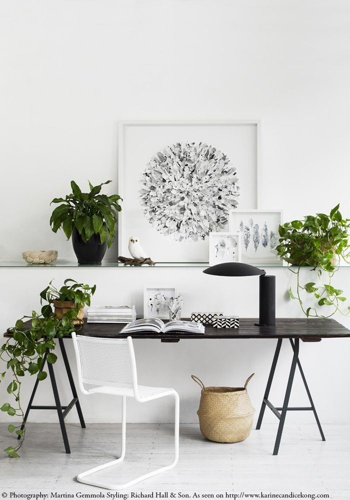 4 workspaces using plants to fight the holidays blues. Read on www.karinecandicekong.com