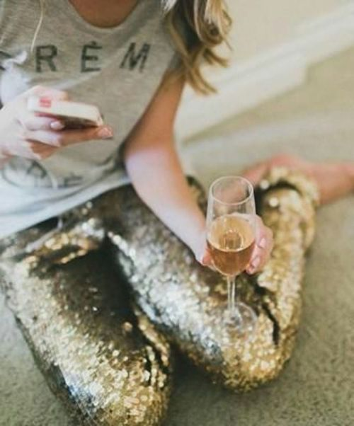 Happy New Year in sequins trousers...best way to end the year and start a new one full of promises
