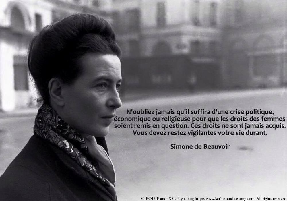 10 inspiring quotes on life, love, women, sexuality, homosexuality by Simone de Beauvoir