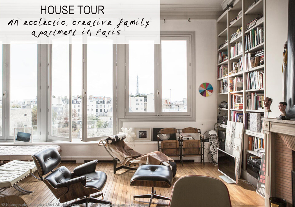 An eclectic, creative family apartment in Paris. Home of Victoire de Taillac-Touhami and Ramdane Touhami