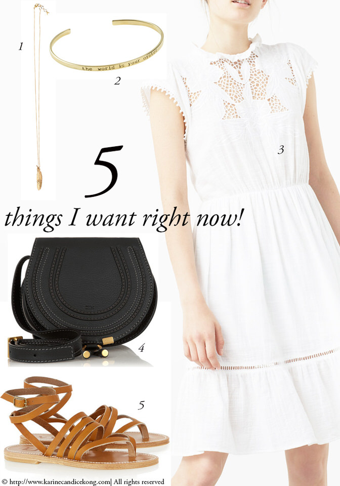 Summer staples: 5 Things I Want Right Now