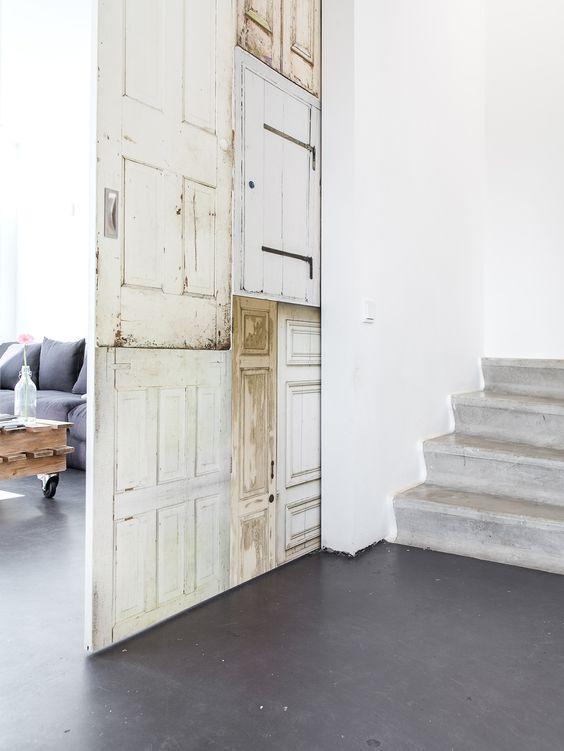 DETAILS: vintage sliding door