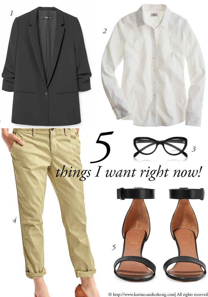 5 things you want right now: chinos