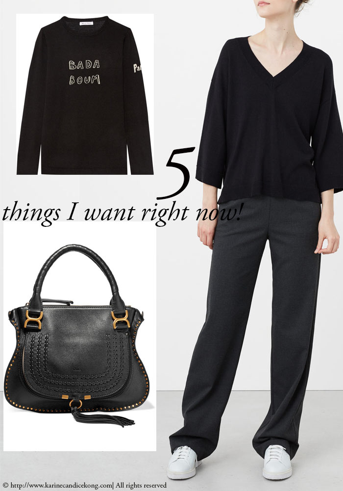 5 things I want right now for a black on black look