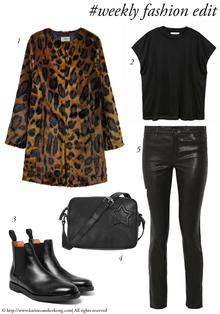 #weekly fashion edit: leopard print coat + leather trousers